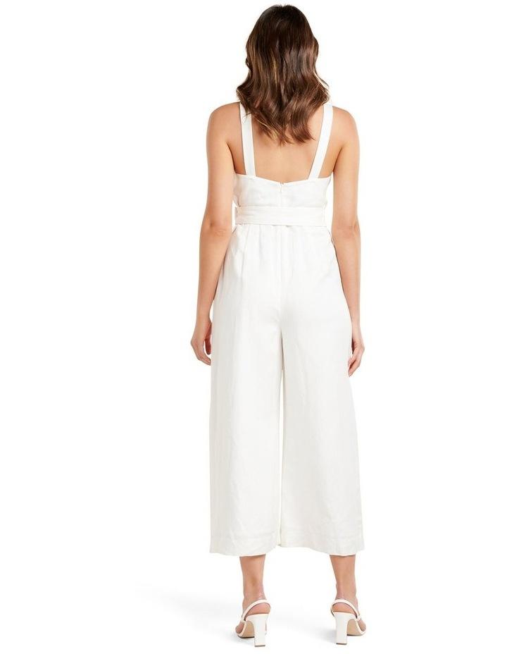 Kira Belted Linen Jumpsuit image 4