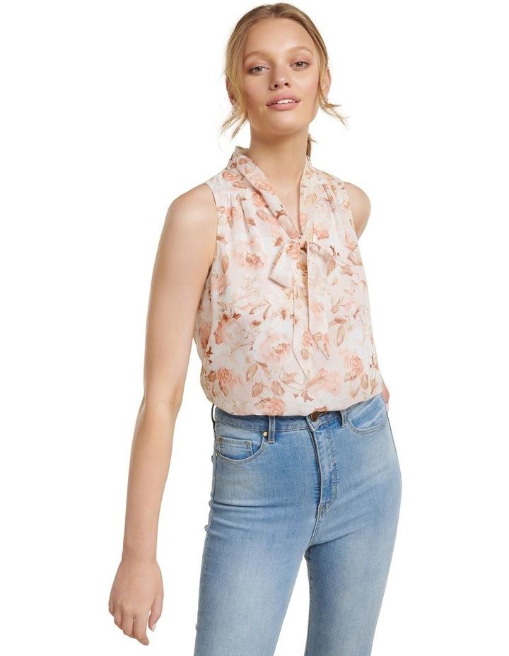Kayla Tie Neck Sleevless Bodysuit image 2