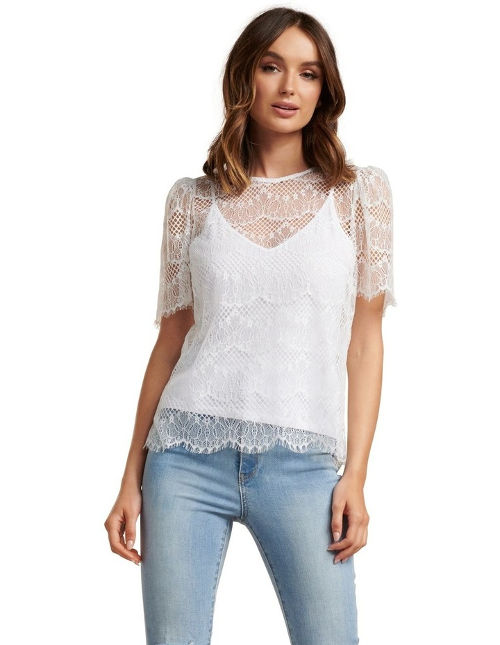 Alicia Puff Sleeve Lace Top image 1