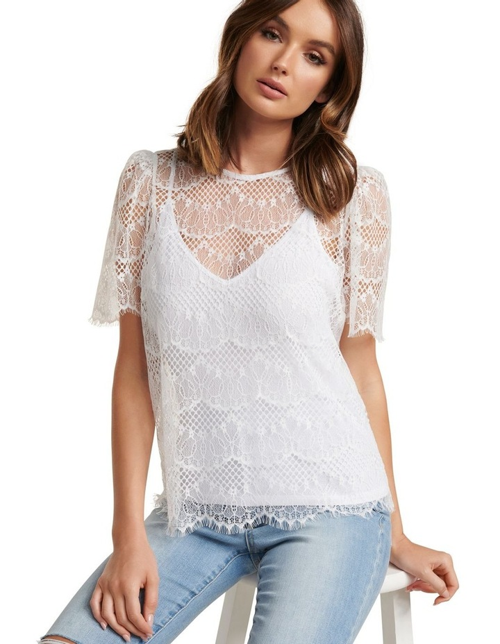 Alicia Puff Sleeve Lace Top image 2