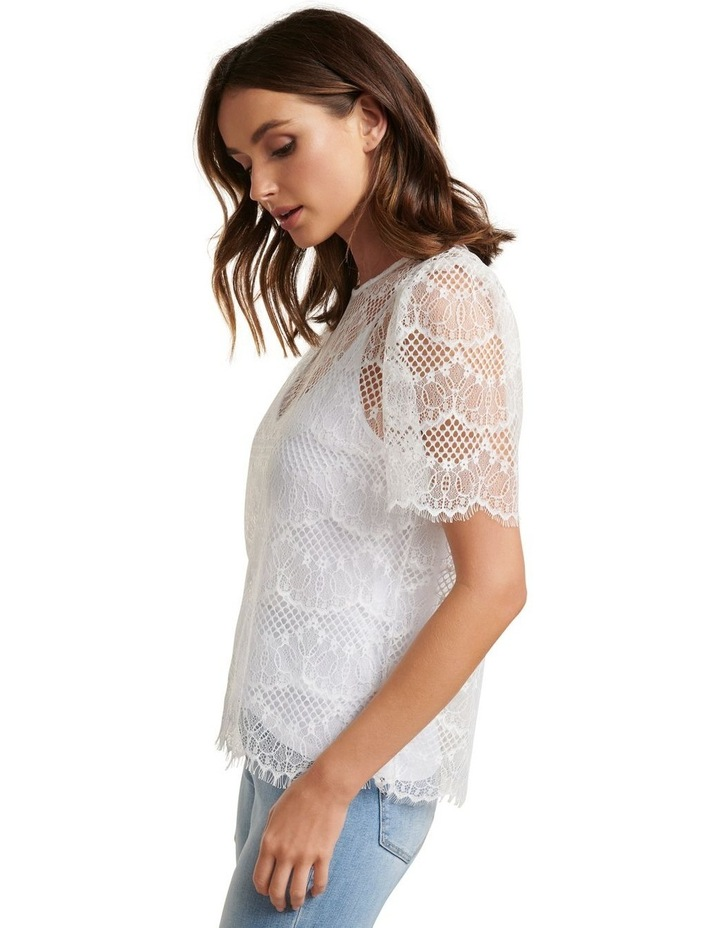 Alicia Puff Sleeve Lace Top image 3