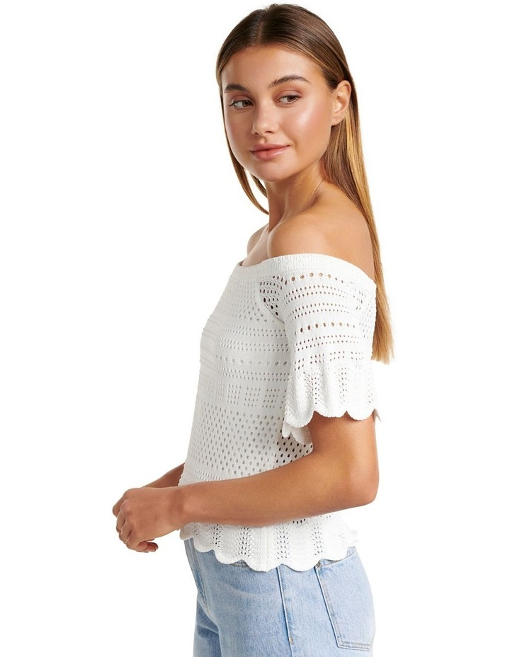 Alba Crochet Look Bardot Knit Top image 3