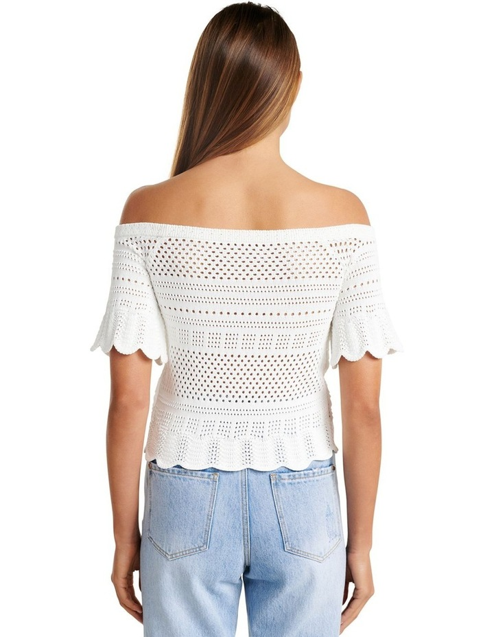 Alba Crochet Look Bardot Knit Top image 4