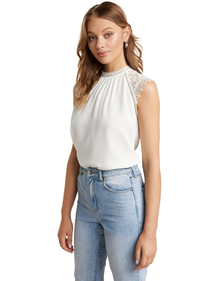 Lulu Lace Shoulder Top image 3