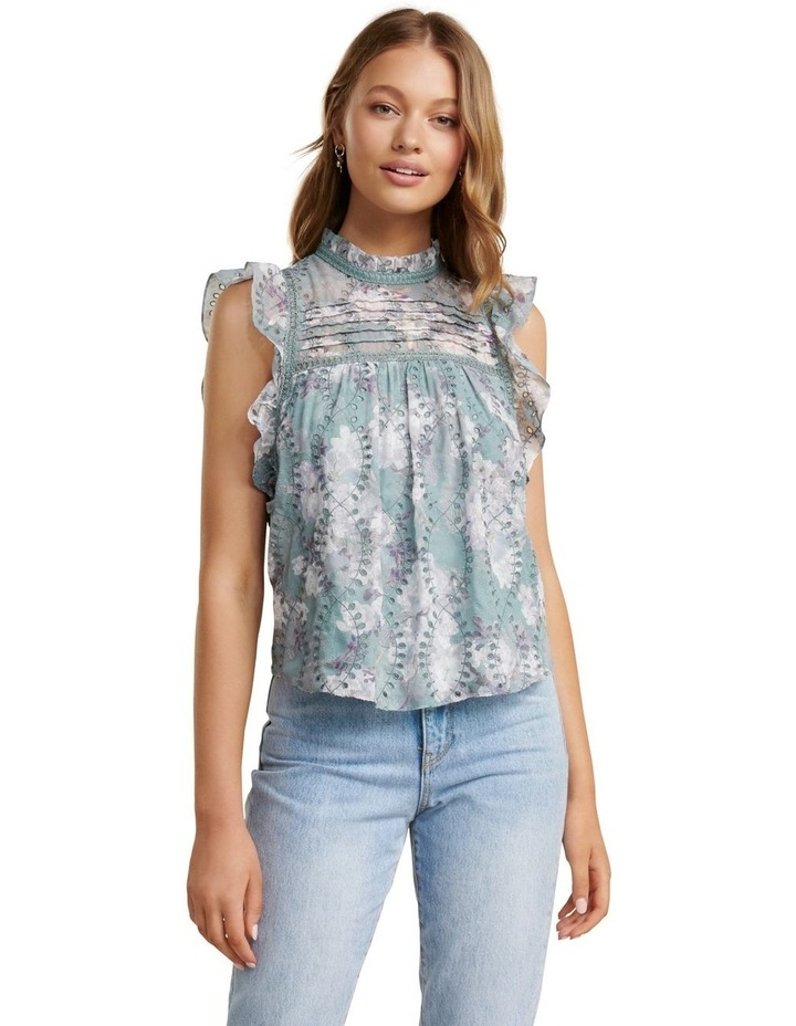 London Embroidered Frill Blouse image 1
