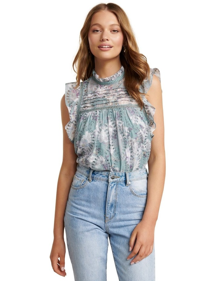 London Embroidered Frill Blouse image 2
