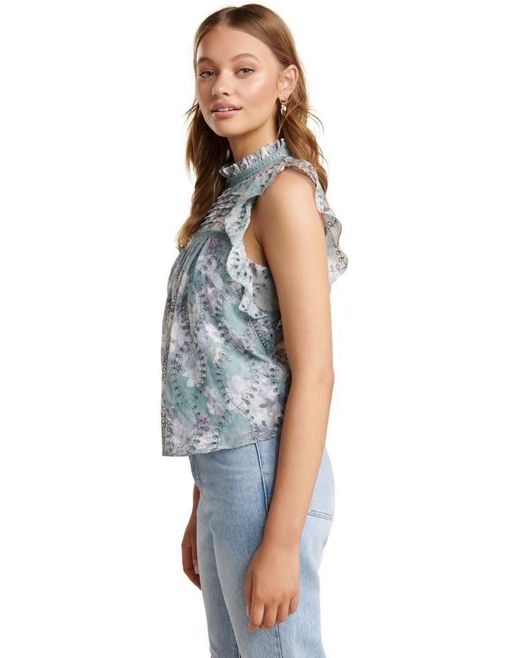 London Embroidered Frill Blouse image 3