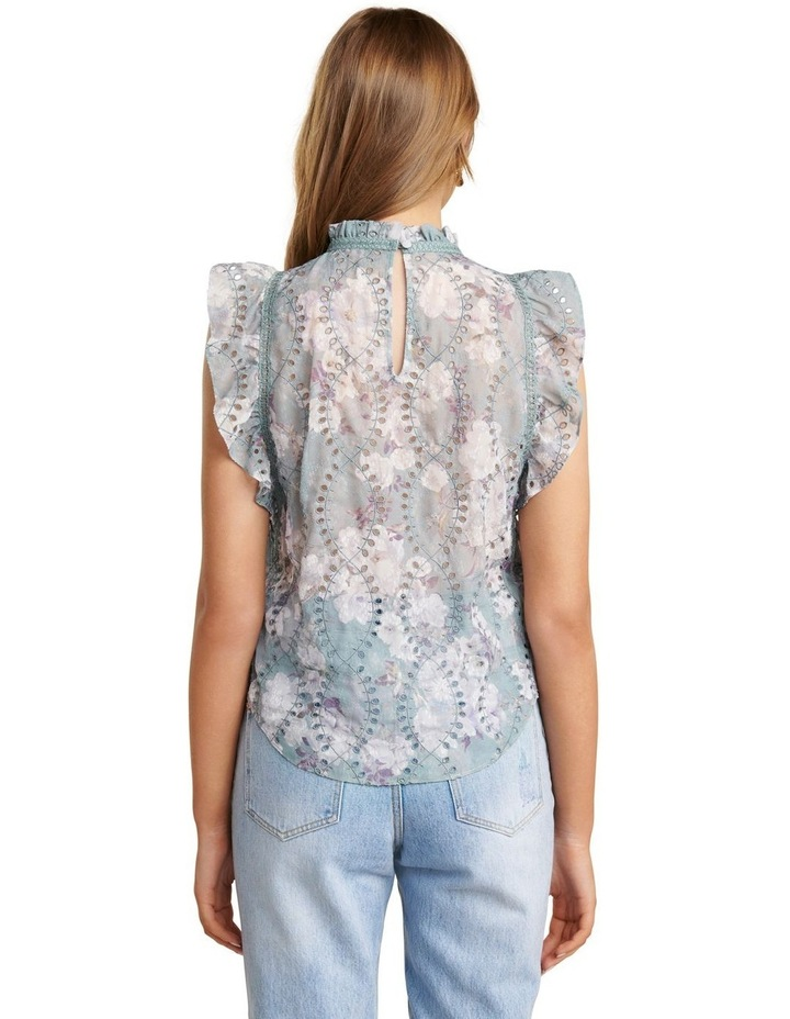 London Embroidered Frill Blouse image 4