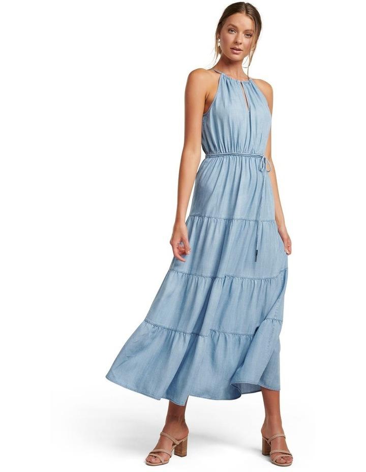 Annie Tiered Denim Maxi Dress image 1