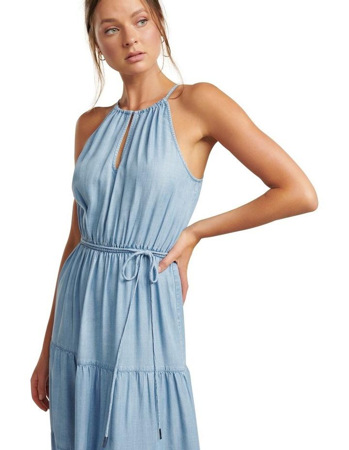 Annie Tiered Denim Maxi Dress image 2