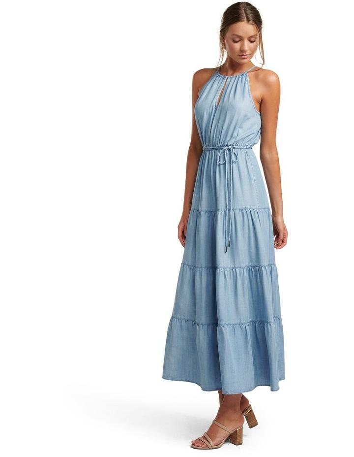 Annie Tiered Denim Maxi Dress image 3