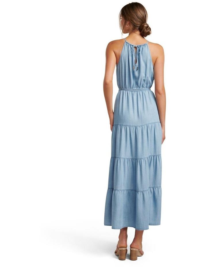Annie Tiered Denim Maxi Dress image 4