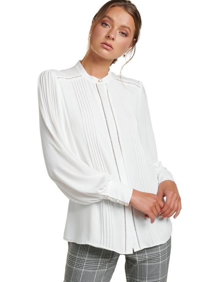 Roseanne Trim Pin Tuck Shirt image 2
