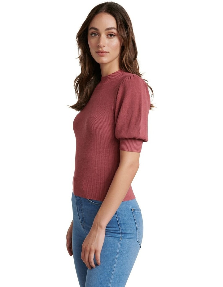 Alicia Puff Sleeve Knit Tee image 2