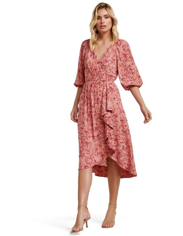 Maya Frill Wrap Midi Dress image 1