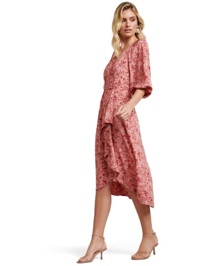 Maya Frill Wrap Midi Dress image 3