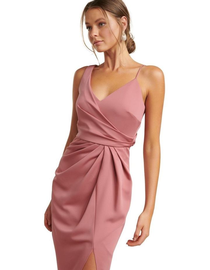 Hallie Drape Satin Midi Dress image 2