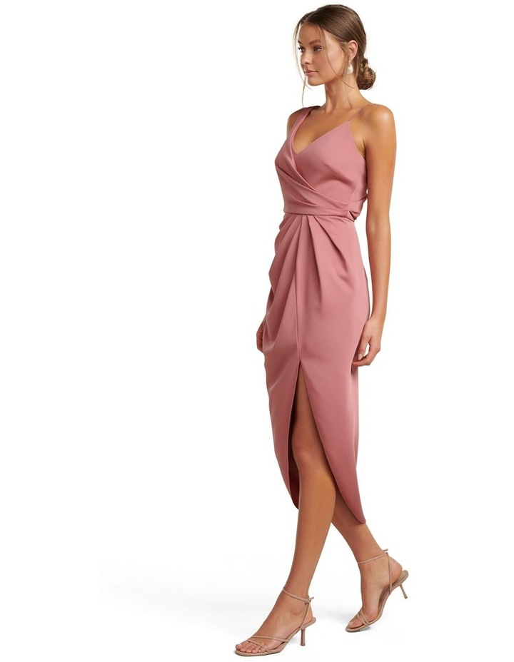 Hallie Drape Satin Midi Dress image 3