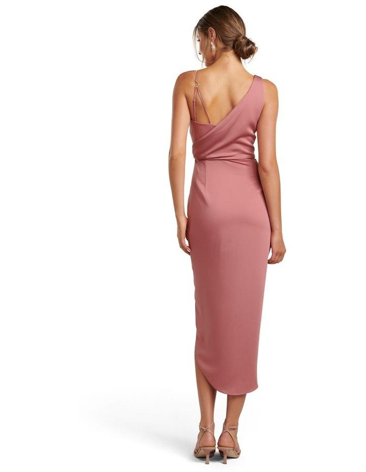 Hallie Drape Satin Midi Dress image 4