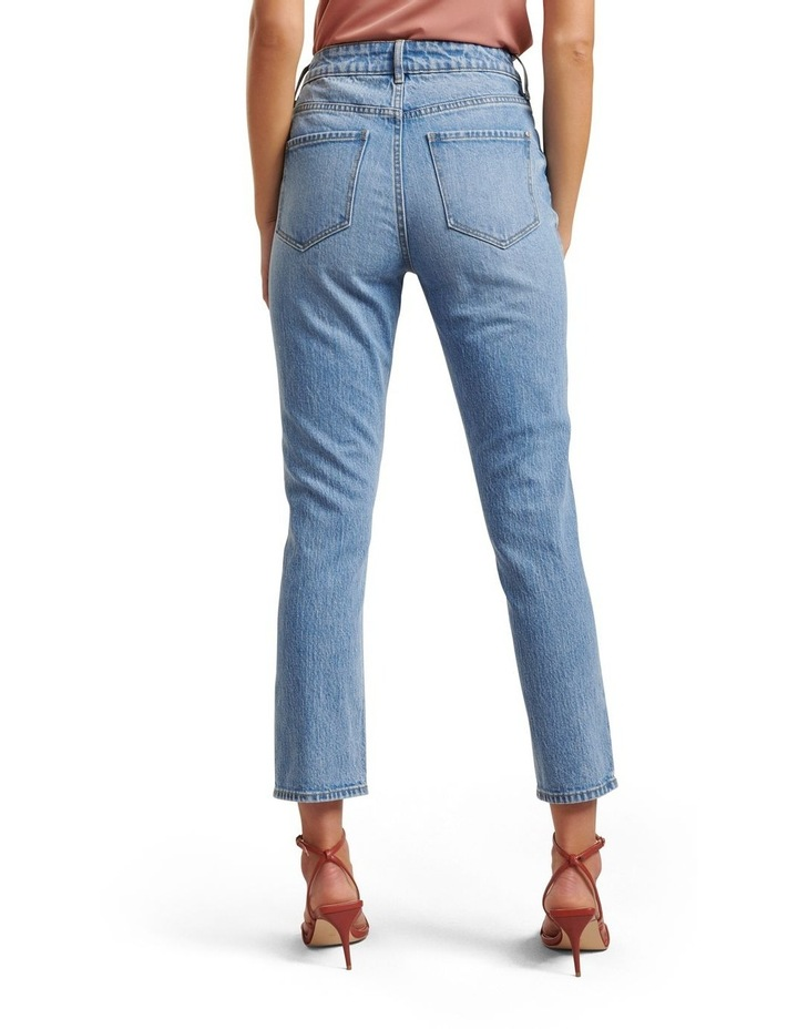 Isabel Mid Rise Straight Jeans image 3
