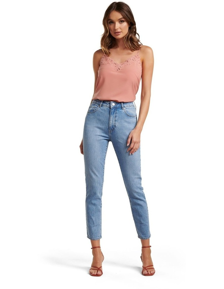 Isabel Mid Rise Straight Jeans image 4