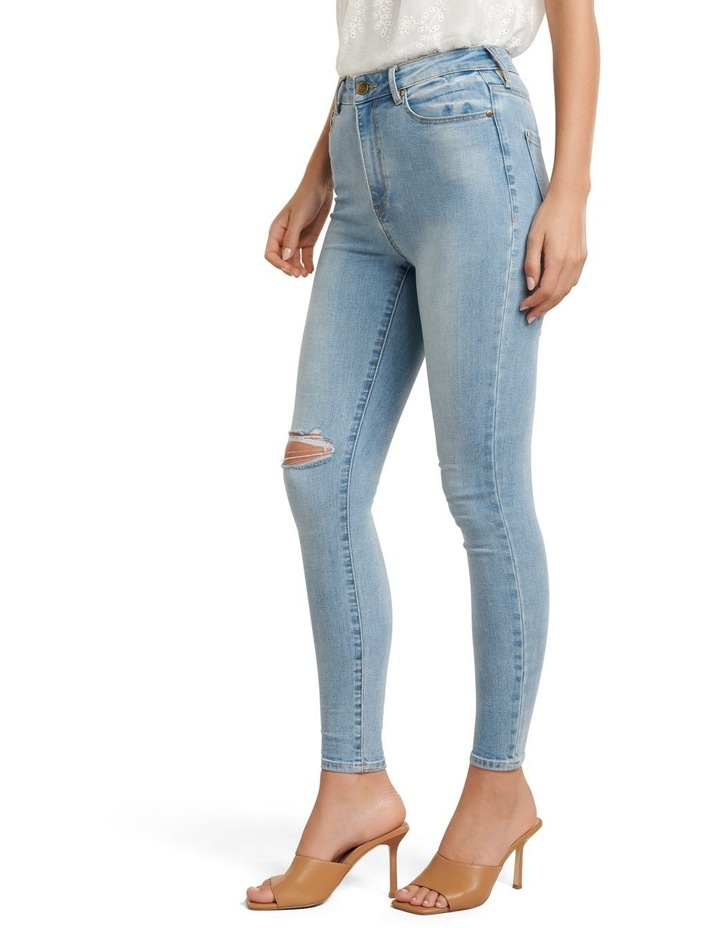 Zoe Mid Rise Ankle Grazer Jeans image 2
