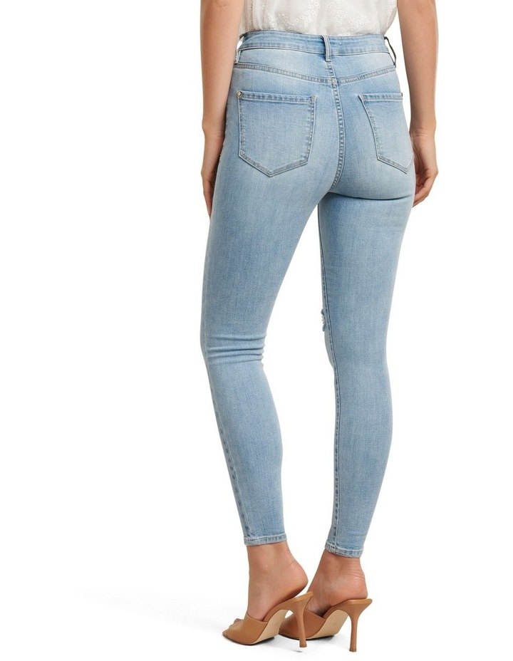 Zoe Mid Rise Ankle Grazer Jeans image 3