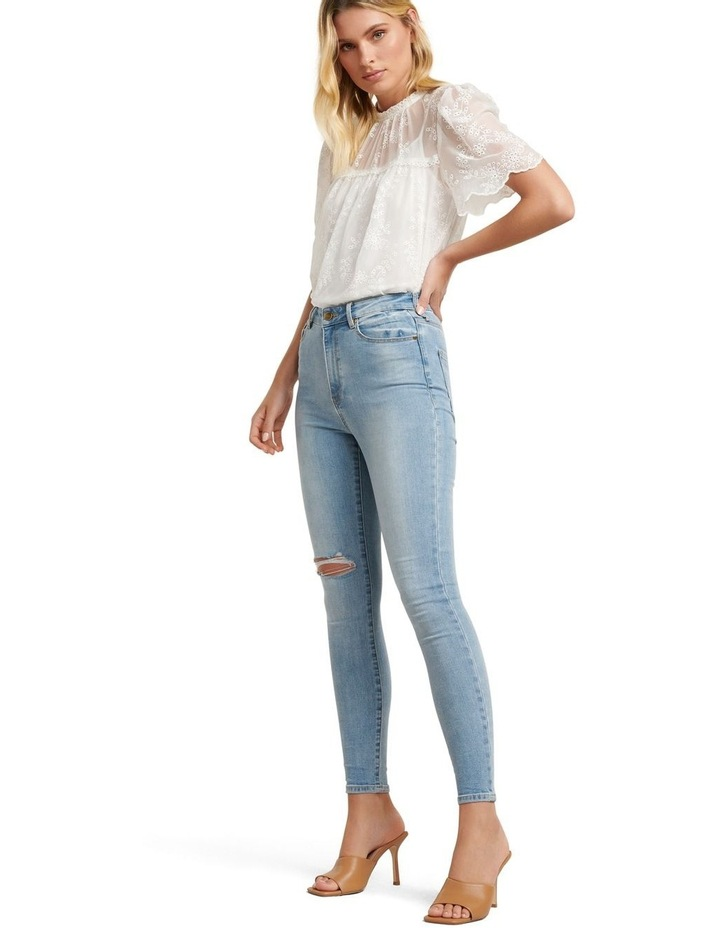 Zoe Mid Rise Ankle Grazer Jeans image 5