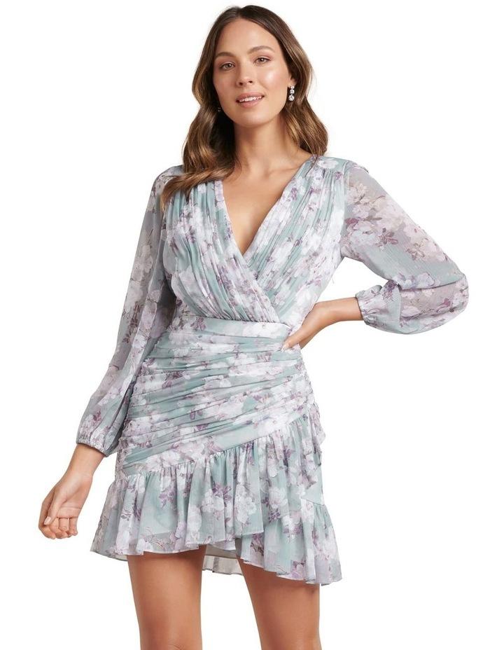 Valentina Pleated Wrap Mini Dress image 1
