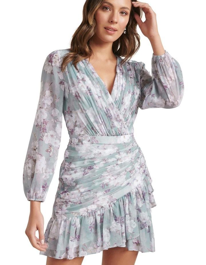 Valentina Pleated Wrap Mini Dress image 2