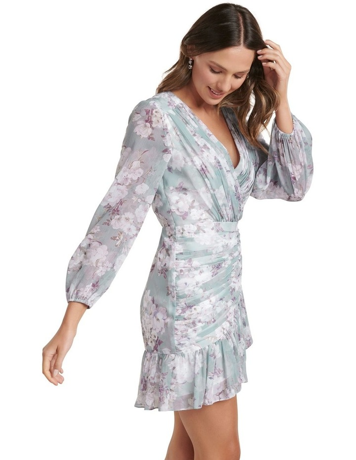 Valentina Pleated Wrap Mini Dress image 3