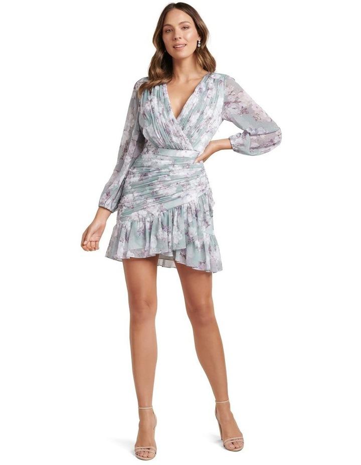 Valentina Pleated Wrap Mini Dress image 5