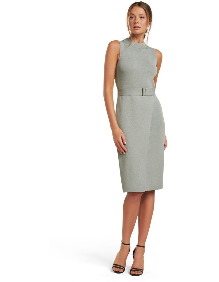 Sophia Belted Wrap Midi Knit Dress image 1