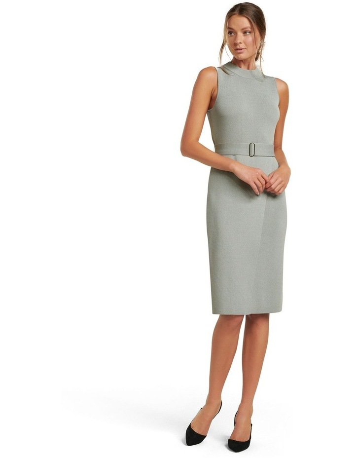 Sophia Belted Wrap Midi Knit Dress image 2