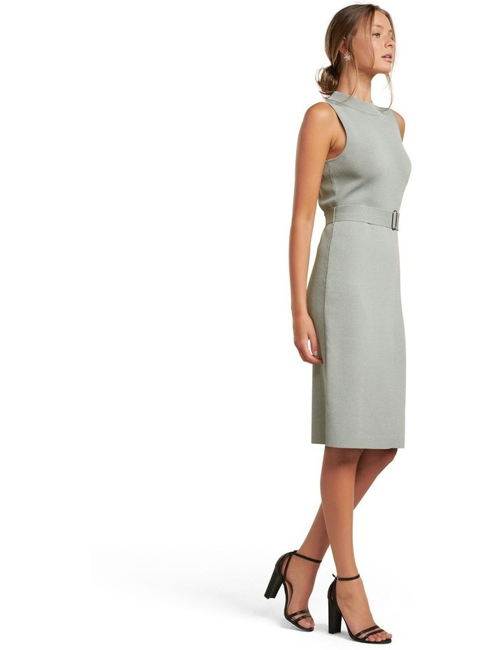 Sophia Belted Wrap Midi Knit Dress image 3