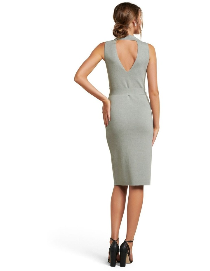 Sophia Belted Wrap Midi Knit Dress image 4