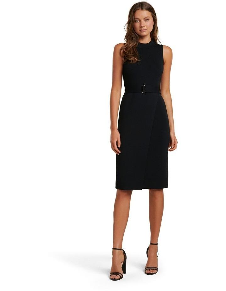 Sophia Belted Wrap Midi Knit Dress image 1