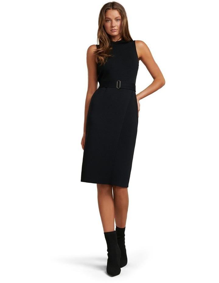 Sophia Belted Wrap Midi Knit Dress image 2