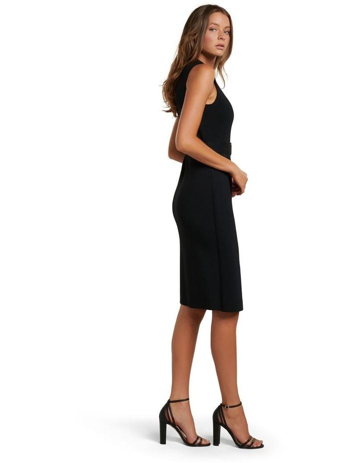 Sophia Belted Wrap Midi Knit Dress image 3