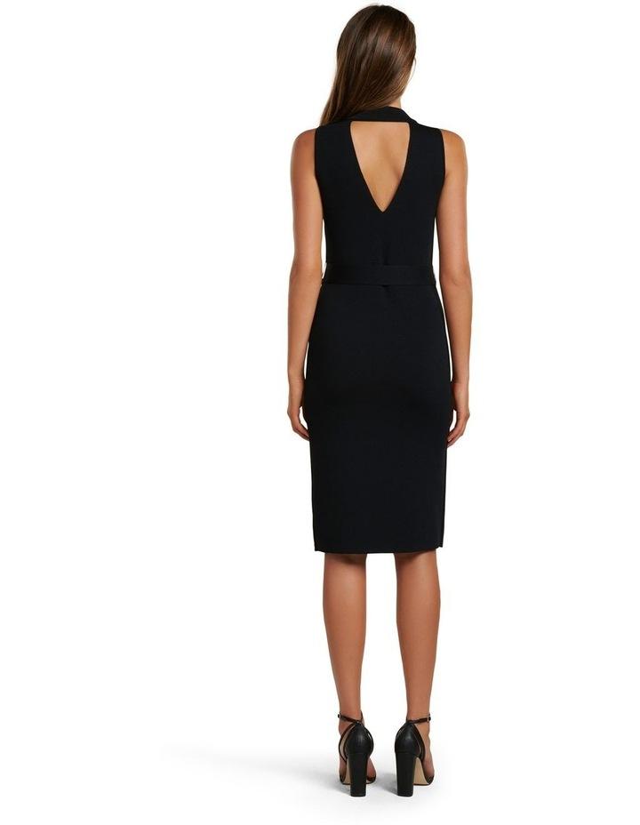 Sophia Belted Wrap Midi Knit Dress image 4