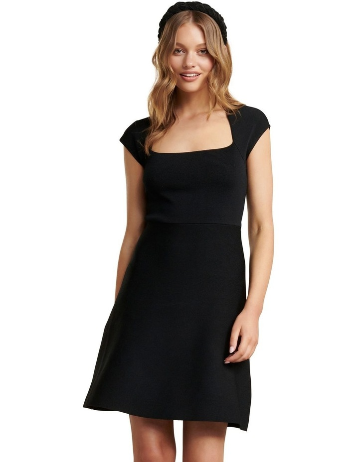 Morgan Square Neck Knit Dress image 1