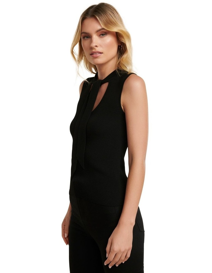Kylie Tie Neck Halo Knit Top image 3