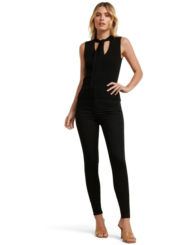 Kylie Tie Neck Halo Knit Top image 5