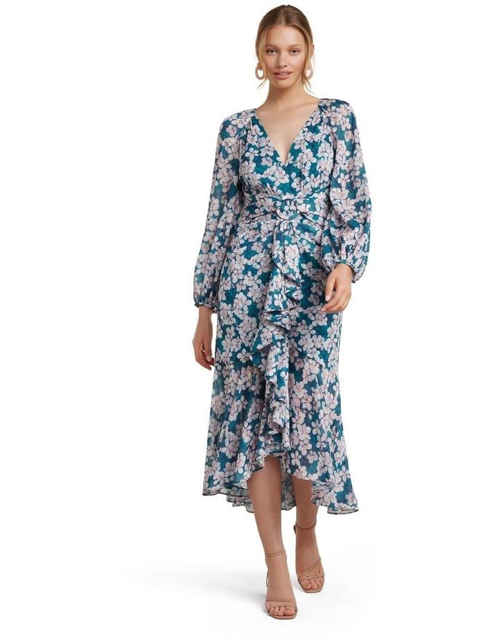 Lilian Long Sleeve Midi Dress image 1