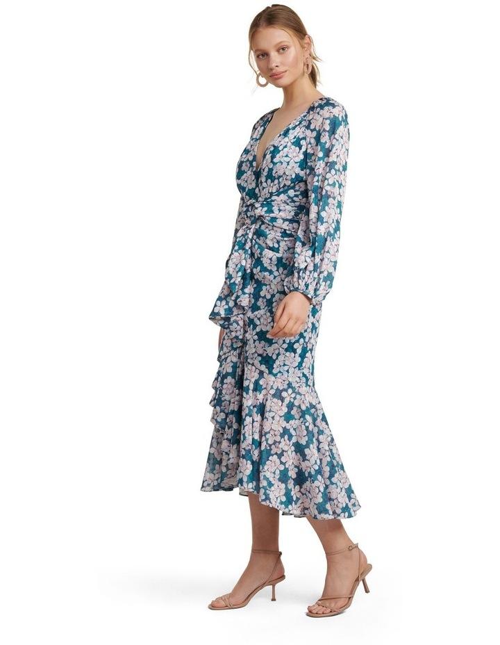Lilian Long Sleeve Midi Dress image 3