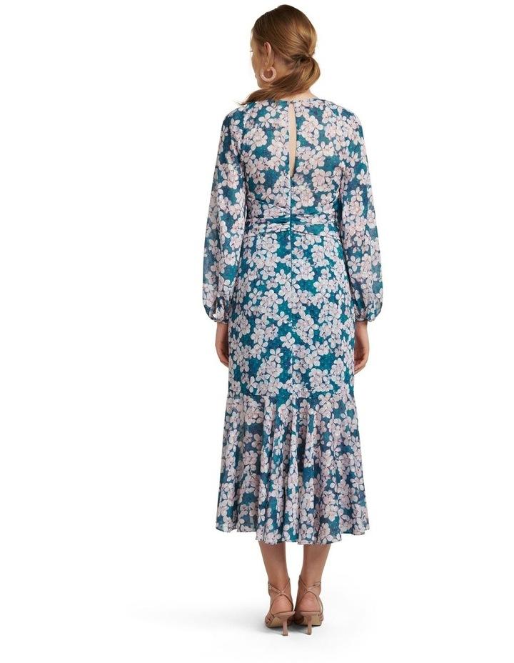 Lilian Long Sleeve Midi Dress image 4