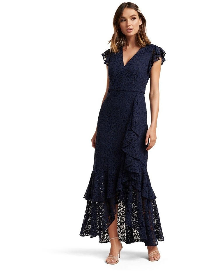 Audrey Lace Ruffle Maxi Dress image 1