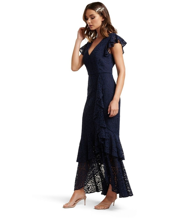 Audrey Lace Ruffle Maxi Dress image 3