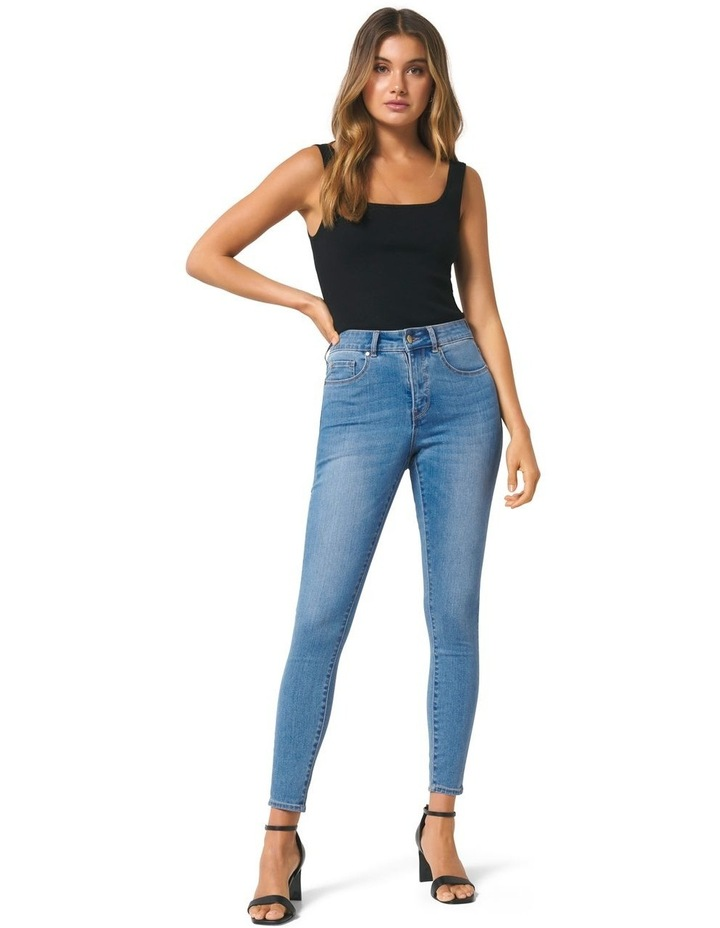 Hailey Mid Rise Curvy Jean image 4