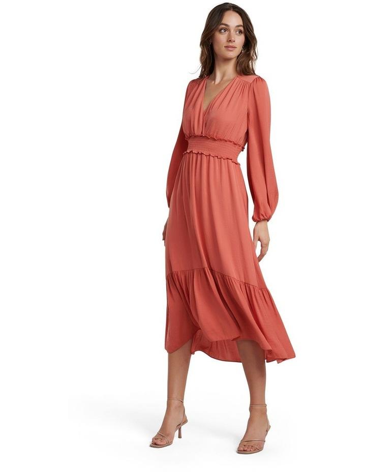 Eloise Long Sleeve Tiered Midi Dress image 1